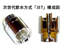 エコマーク認定を受けた節水装置『JET』